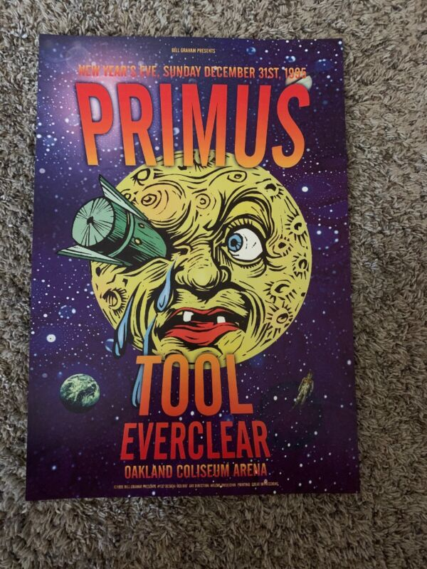 PRIMUS - TOOL - EVERCLEAR poster Oakland Coliseum BGP137 New Year