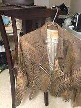 KAZZMAZZ leather jacket ,plus overlander cowboy hat. Balcatta Stirling Area Preview