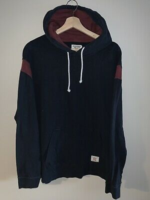 Abercrombie Mens Navy Varsity Hoodie Size XL / A&F Blue Sweatshirt