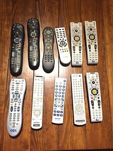 Assorted TV remotes. Excellent condition