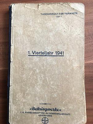 Sammeln/Seltenes Taschenbuch für Tierärzte 1941