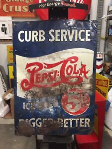 Pepsi doubledot curb sign 306-717-9678