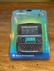 Texas Instruments TI PS-2460i INDIGLO  DATA BANK  Calculator Alarm New