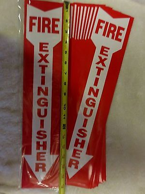 Lot Of 20 Self-adhesive 4 X 18 Vinyl Fire Extinguisher Arrow Signs...new
