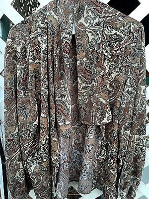 ALFRED DUNNER Paisley Sash Flowy Blouse Top Shirt Jacket STYLISH Womens Sz 16