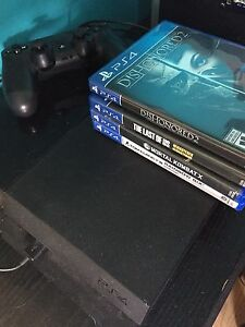 PS4 with new headset and 9 games