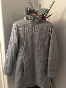 Ladies Columbia light down parka, size SMALL