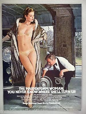 Maidenform Bra & Panty PRINT AD - 1980 ~~ panties, lingerie