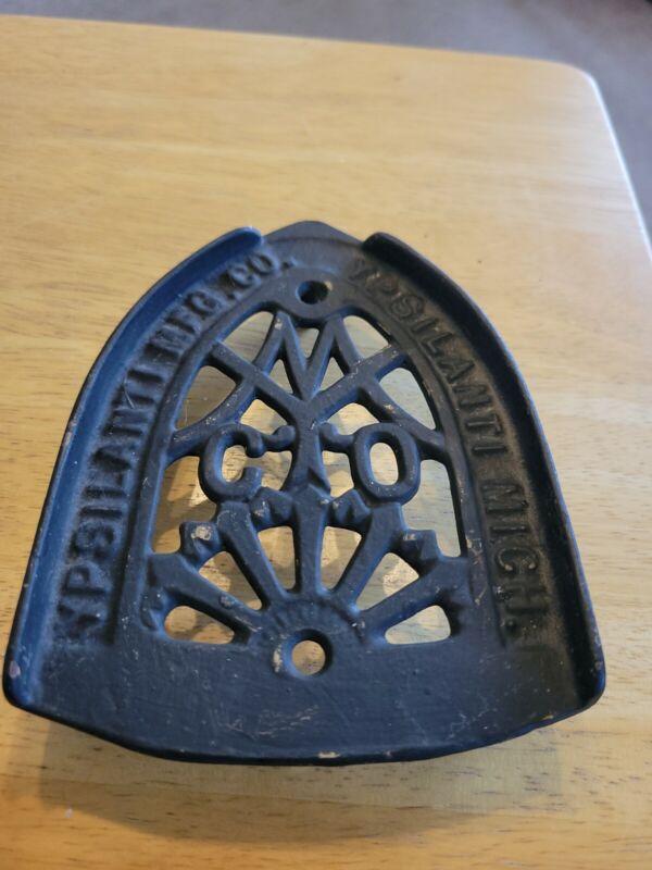 Ypsilanti Mfg. Company Cast Iron Sad Iron Trivet Ypsilanti, Michigan