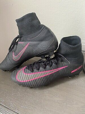 Nike Mercurial Superfly V FG Cleats Black/Pink Men Size 8 831940006