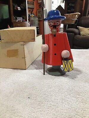 Vintage Dregeno Wooden Night Watchman German Insence Smoker