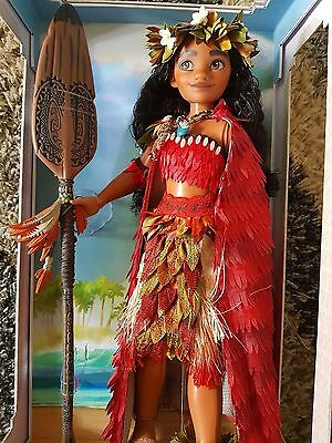 """Moana Voyager Limited Edition Disney Store 17"""" Heirloom Doll Second Release"""
