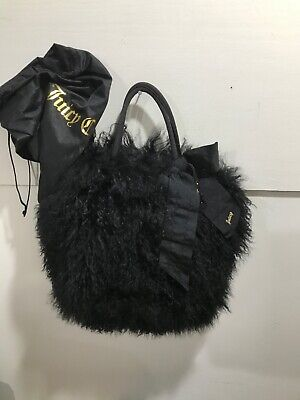 Juicy Couture NWT vintage Lamb tote bag with bow and beaded stone charm