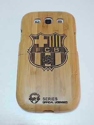 Brand New Football Fever Barcelona Bamboo Wood Case For Samsung Galaxy S3 i9300 on Rummage