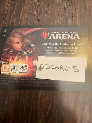 Arena Rowan Fearless Sparkmage Planeswalker deck CODE MTGA DDcards Exp 6/1/21