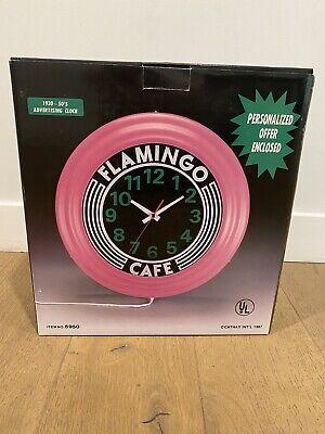 Retro Style Diner Clock-pink