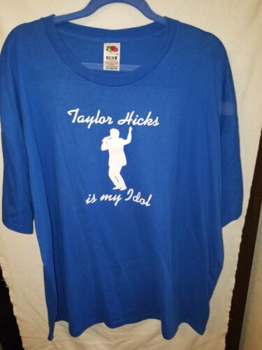 Taylor Hicks Is My Idol - size 3X t-shirt- from American Idol On Tour