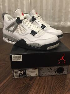 Air Jordan IV White Cement sz 9.5