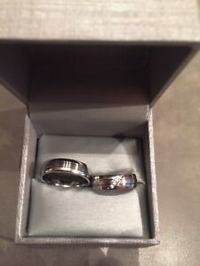 Matching Couples Stainless Steel Ring Set