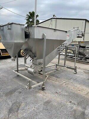 Stainless Incline Cleated Conveyor Destoner Dewatering Conveyor 12 Custom