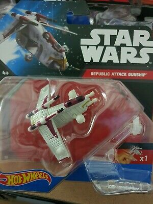 Hot Wheels Star Wars Republic Attack Gunship Die Cast Vehicle - (CGW58)