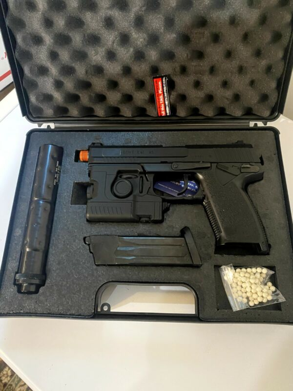 Socom MK23 Fixed Slide Gas Gun Made by Tokyo Marui Co. (Full Kit)