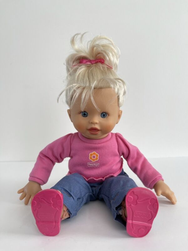 """Fisher Price Little Mommy Baby Knows Baby Doll Bilingual 16"""""""
