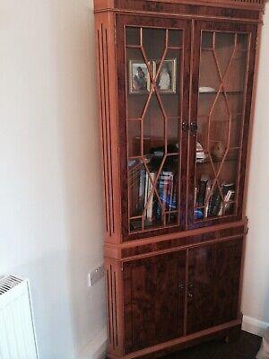 1 X Large Georgian Walnut corner display cabinet/cupboard.