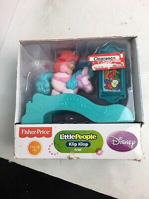 Fisher Price Little People Disney Princess Klip Klop ARIEL New