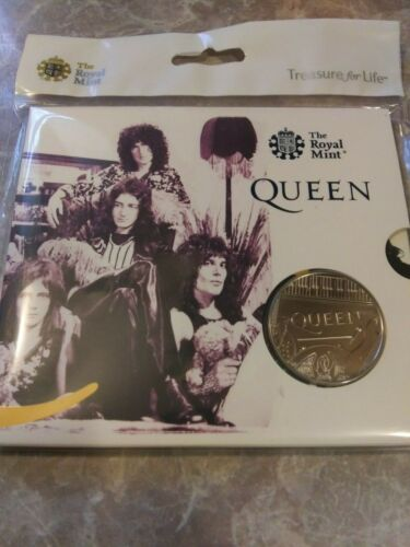 2020 United Kingdom REAL QUEEN COIN Rock Music Legends Freddie Mercury & Queen