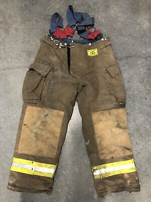 Morning Pride Fire Fighter Turnout Pants 36x31 Bunker Gear 2777