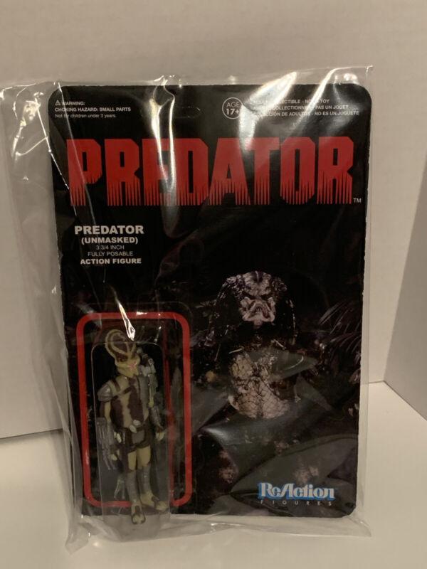 "2013 ReAction Figures Predator Unmasked Action Figure 3.75"" Package Wear"
