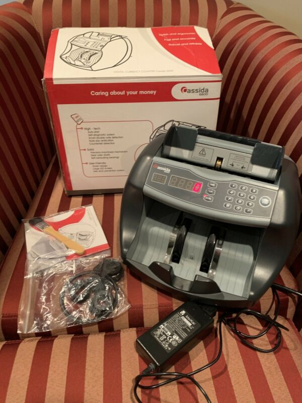 Cassida 6600 Business Grade Money Counting Machine Ultraviolet (UV) in BOX Nice