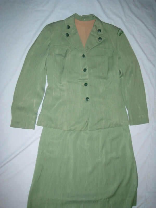 Girl Scouts Leader  Adult Uniform Lot 1953-58 Suit - Jacket & Skirt