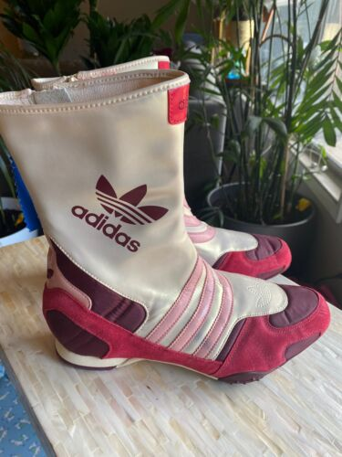 ADIDAS AUTHENTIC ORIGINALS BOOTS -Gold/Off White/Red/Burgundy. - Size 9.5 US NEW - $30.00