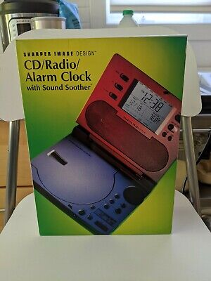 Sharper Image CD/Radio/Alarm Clock with Sound Soother - Brand NEW
