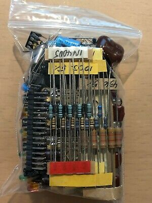 Mixed Lot Grab Bag Electronic Components Capacitors Resistors Diodes Leds More