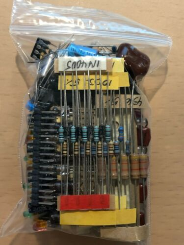Mixed lot Grab Bag Electronic Components Capacitors Resistors Diodes LEDs + MORE