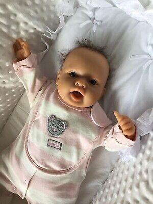 Berenguer Reborn Baby Doll With Soft Body In Pink Bodysuit, Sleepsuit, Bib+Dummy