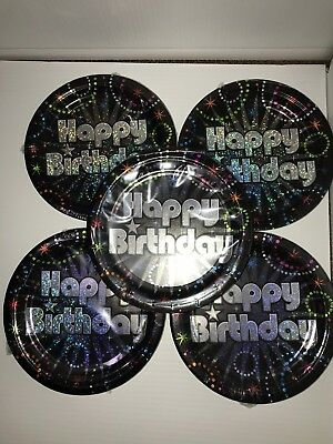 Paper Plates In Bulk (lot of 5 birthday paper plates (7in) 8 per)