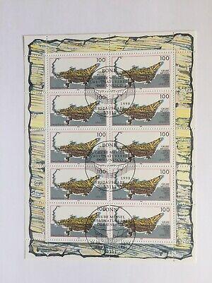 BUND BRD Kleinbogen Zehnerbogen 2006° UNESCO Welterbe Grube Messel Krokodil