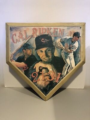 Cal Ripken Jr. 2131 Home Plate Base Hanging Picture by Sportacular Art VERY (Home Base Video)