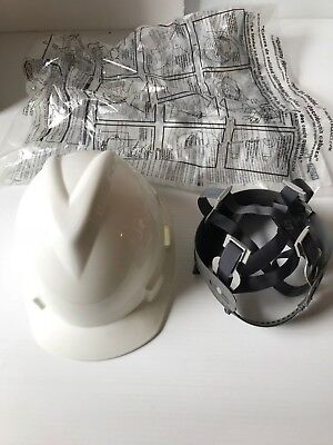 Msa V-gard Size Small Hard Hat With Pin Lock Suspension - White 466354