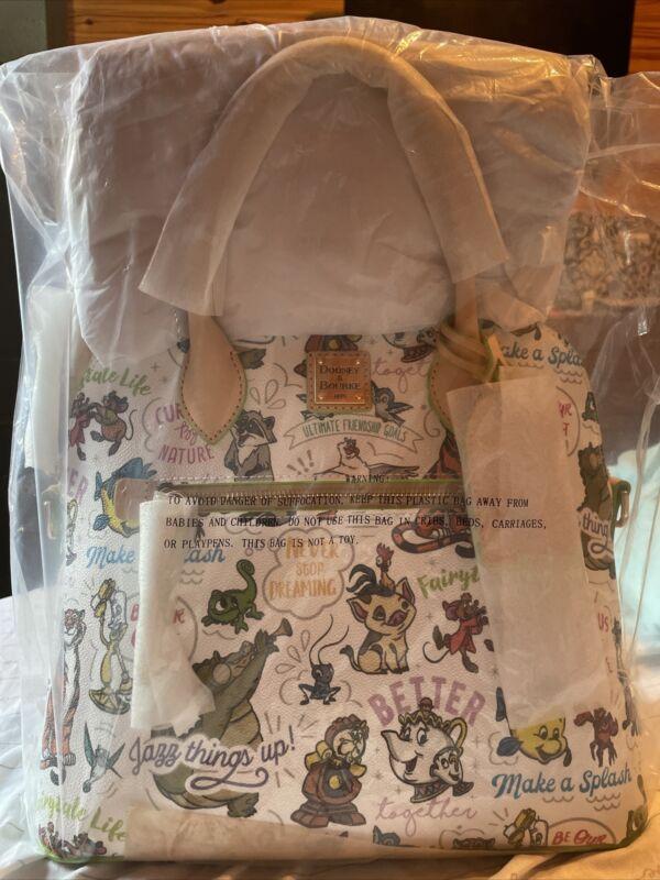 2021 Disney Parks Dooney & Bourke Sidekicks Passholder Satchel Purse Bag