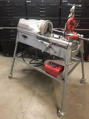 Ridgid 535 Pipe Threader Threading Machine 1224 300 700141greenleerigid