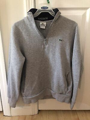 Lacoste 1/4 Zip Sweater- Size 5 (M) Sweater, jacket, long sleeve gray