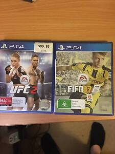PS4 FIFA 17 & UFC 2 (Hardly used) Morley Bayswater Area Preview