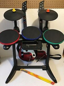 Wii wireless drums and guitars