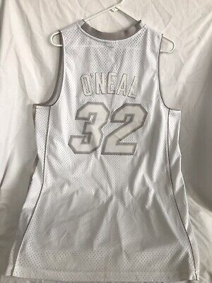 Miami Heat O'Neal #32 Reebok NBA Basketball Alternate Jersey SEWN  RARE Size L