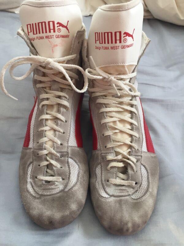 Vintage Rare Puma Wrestling Shoes Size 10.5